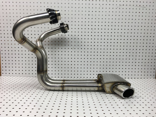 CX500-GL500, CX650-GL650 Stainless under engine box collector exhaust