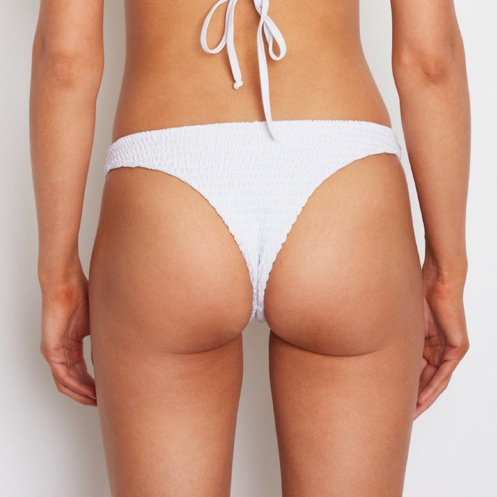 Amore + Sorvete - Creampuff Bottom in White (Minimal Coverage)-Amore + Sorvete-Nomads Cove