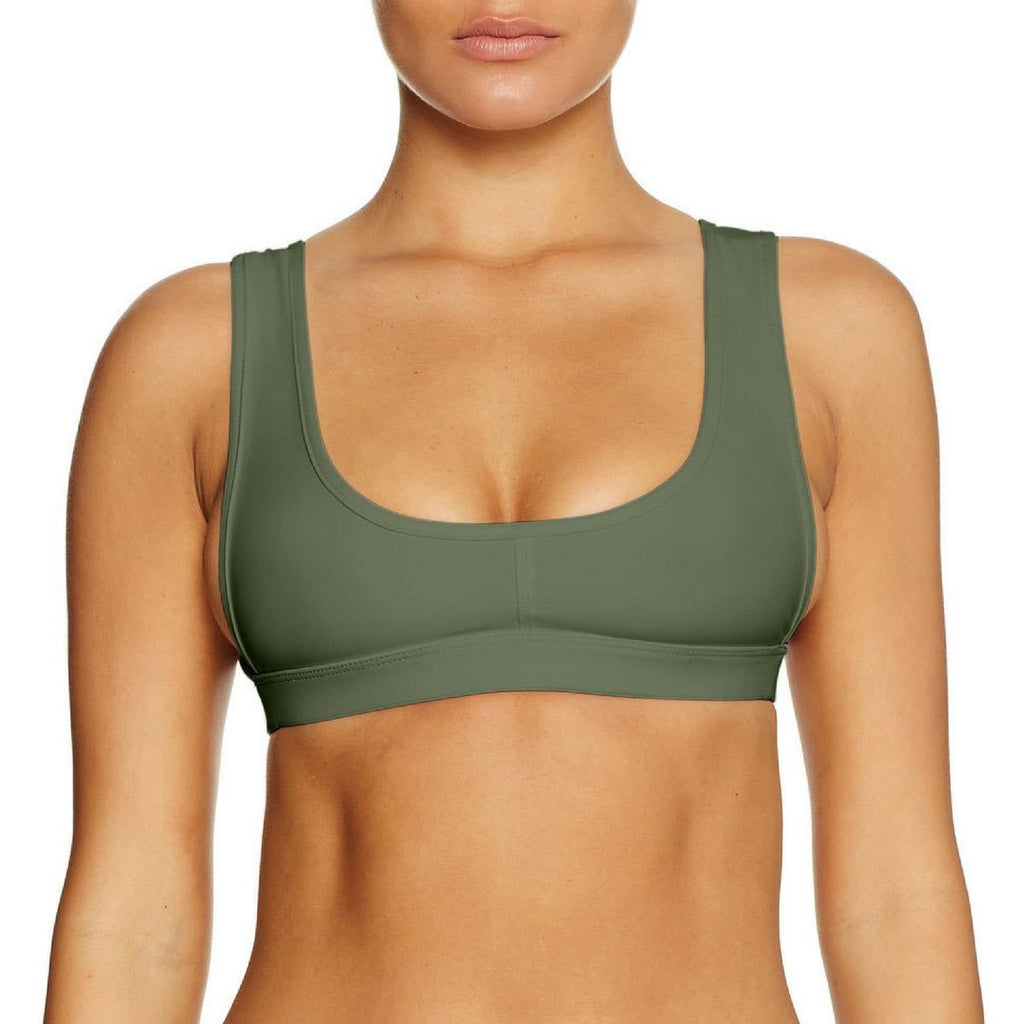Cantik - Army Pay Back Top-Cantik Swimwear-Nomads Cove