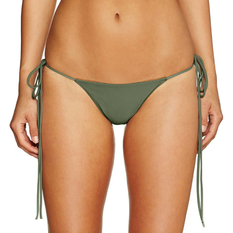 Cantik - Army String Along Bottoms-Cantik Swimwear-Nomads Cove