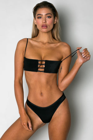 Cantik Swimwear Cantik - Bedouin Bottoms in Black Corduroy - Nomads Cove