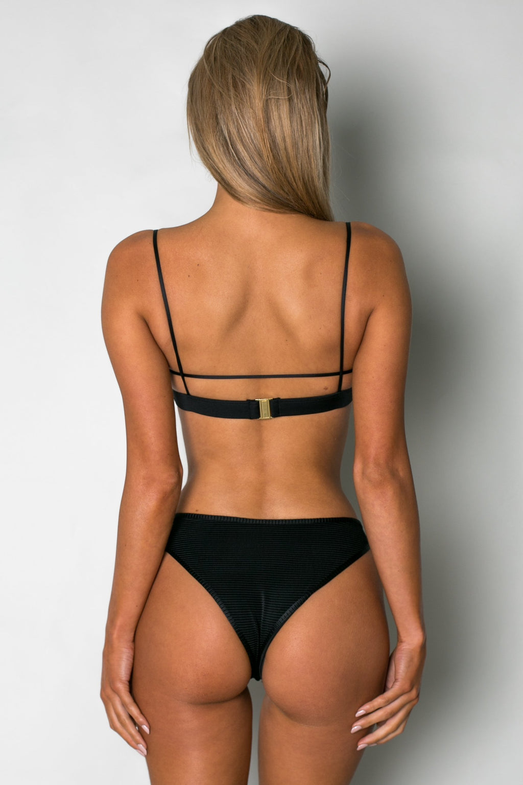 Cantik - Bedouin Bottoms in Black Corduroy-Cantik Swimwear-Nomads Cove