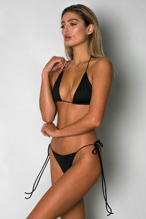 Cantik - Black String Along Bottoms-Cantik Swimwear-Nomads Cove