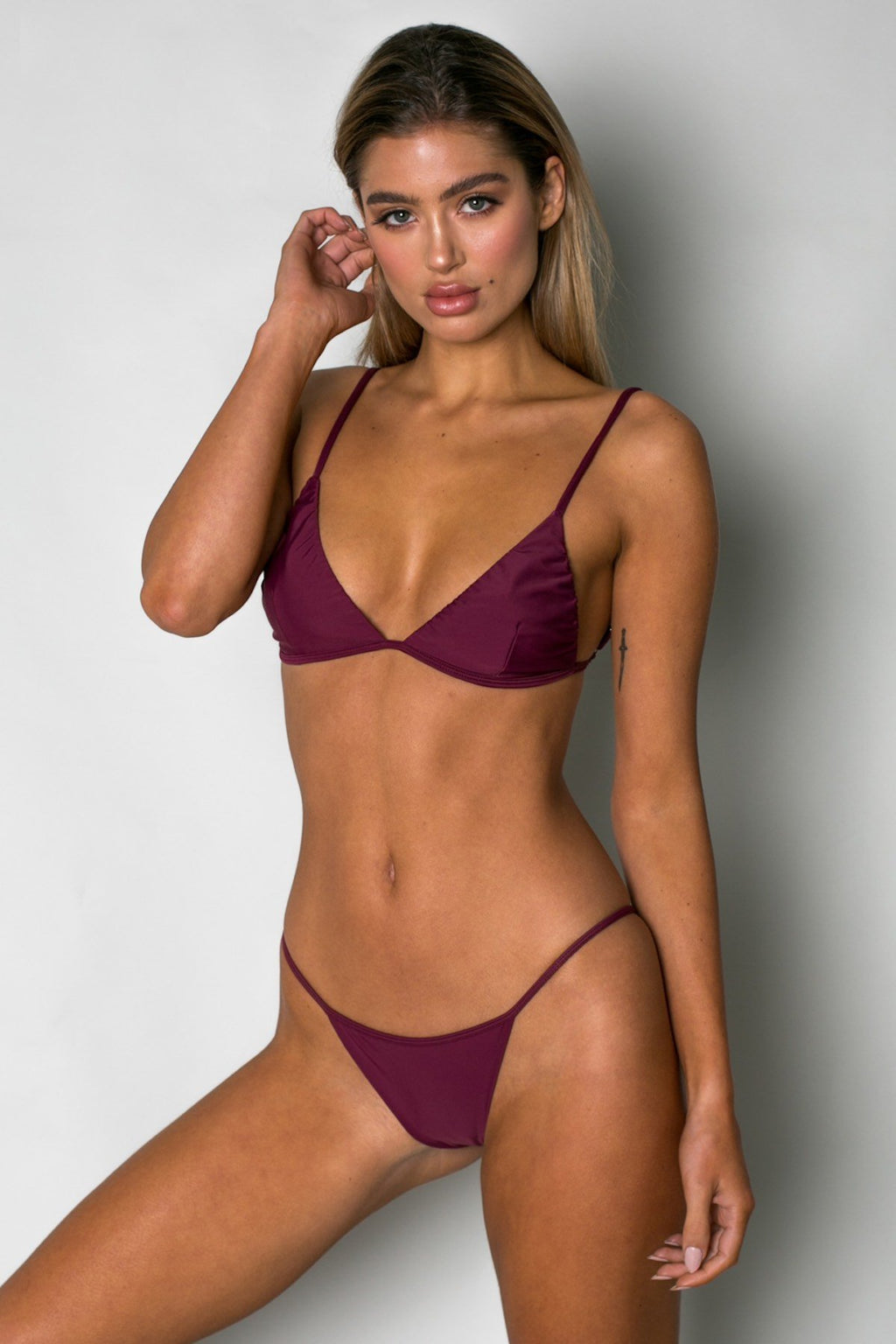 Cantik - Bordeaux Phoenix Top-Cantik Swimwear-Nomads Cove