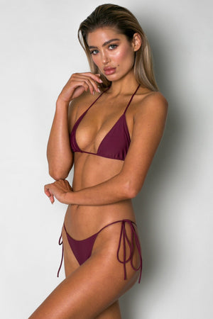 Cantik - Bordeaux String Along Top-Cantik Swimwear-Nomads Cove