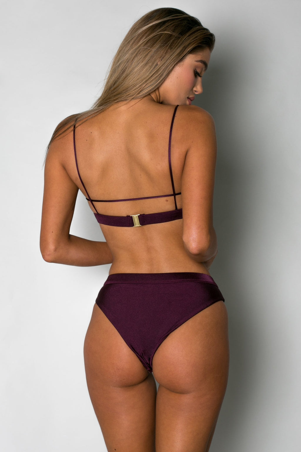 Cantik - Eclipse Bottoms in Ruby-Cantik Swimwear-Nomads Cove