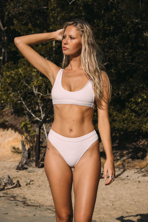 Cantik Swimwear Cantik - Eclipse Bottoms in White Corduroy - Nomads Cove