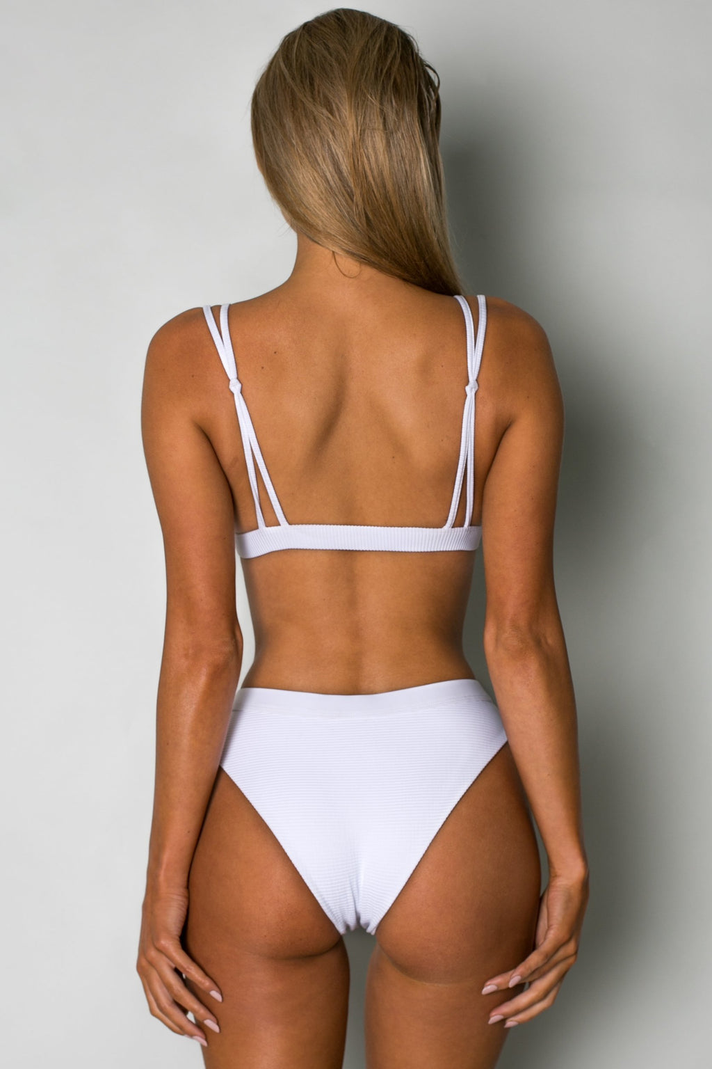 Cantik - Eclipse Bottoms in White Corduroy-Cantik Swimwear-Nomads Cove