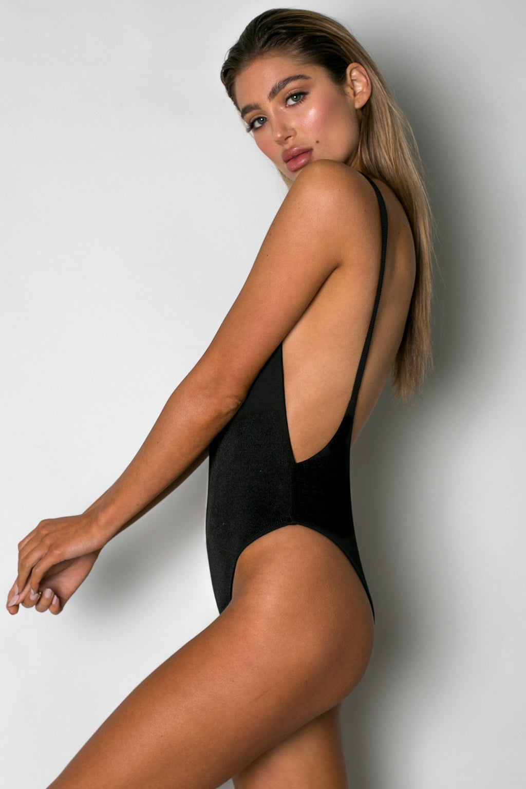 Cantik - One Piece Ribbed Black Byron-Cantik Swimwear-Nomads Cove