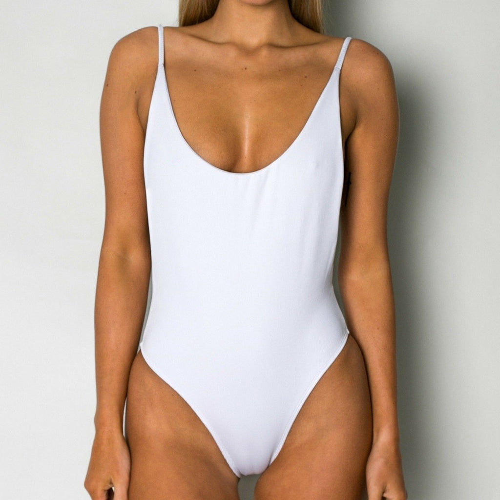 Cantik - One Piece Ribbed White Byron-Cantik Swimwear-Nomads Cove
