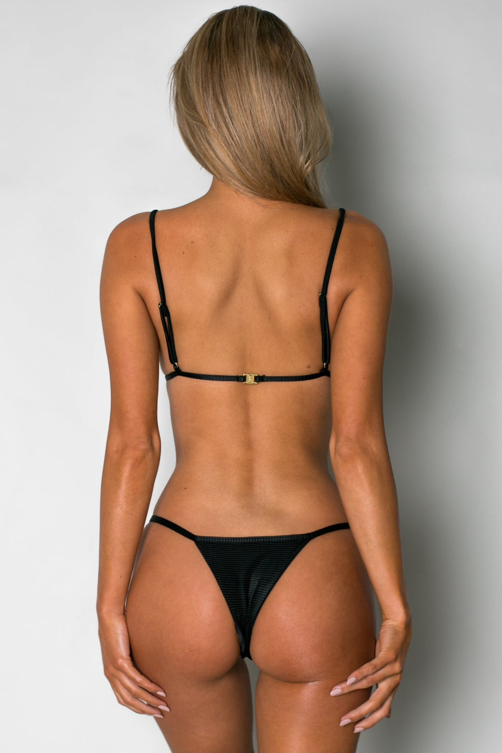 Cantik - Phoenix Bottoms in Black Corduroy-Cantik Swimwear-Nomads Cove
