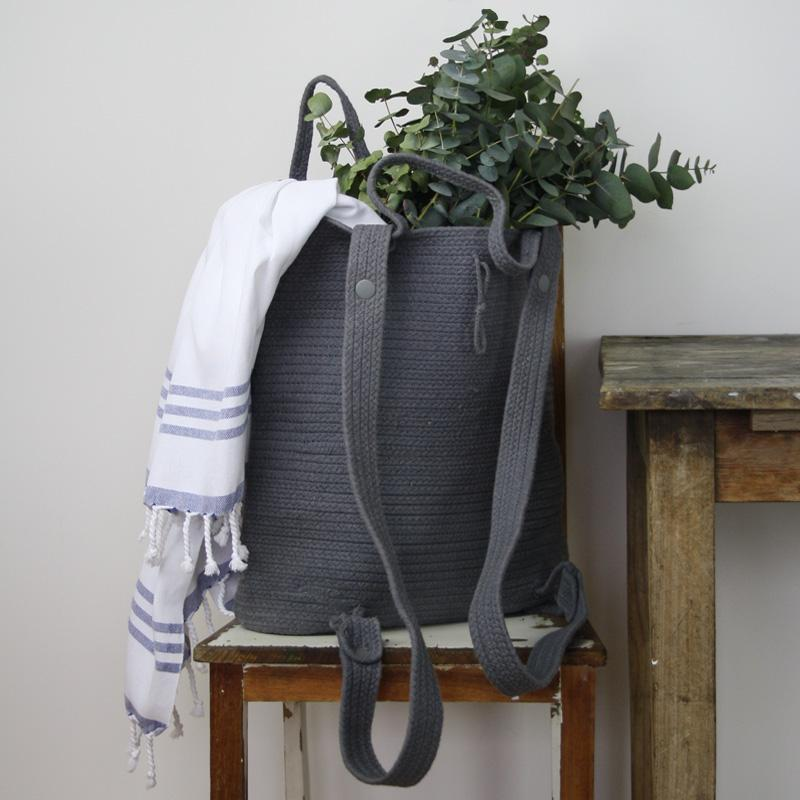 Collective Sol Collective Sol - Santorini Market Backpack Grey - Nomads Cove