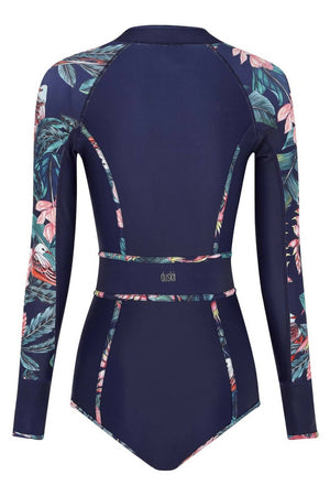 Duskii Duskii - Haleakala Long Sleeve Bikini Suit | Tropical Print - Nomads Cove