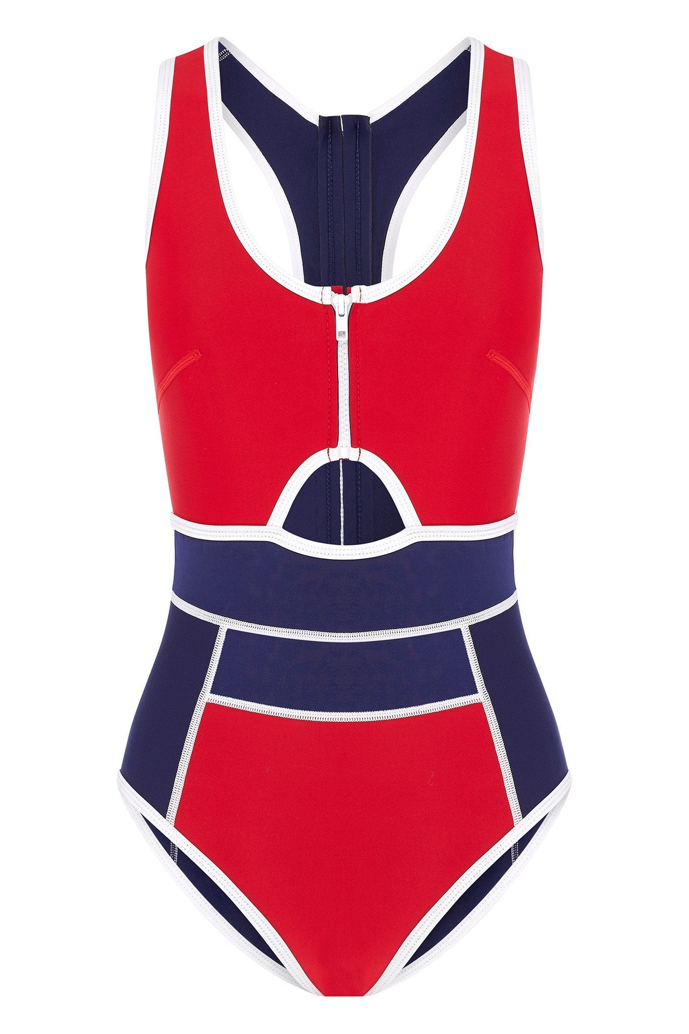 Duskii - Kailua Racer One Piece | Red & Navy-Duskii-Nomads Cove