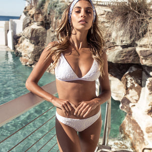 Ete - Bailey Bottoms in White Lace-Ete Swimwear-Nomads Cove