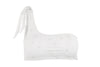 Ete - Coco One-Shoulder Top in White Embroidery-Ete Swimwear-Nomads Cove