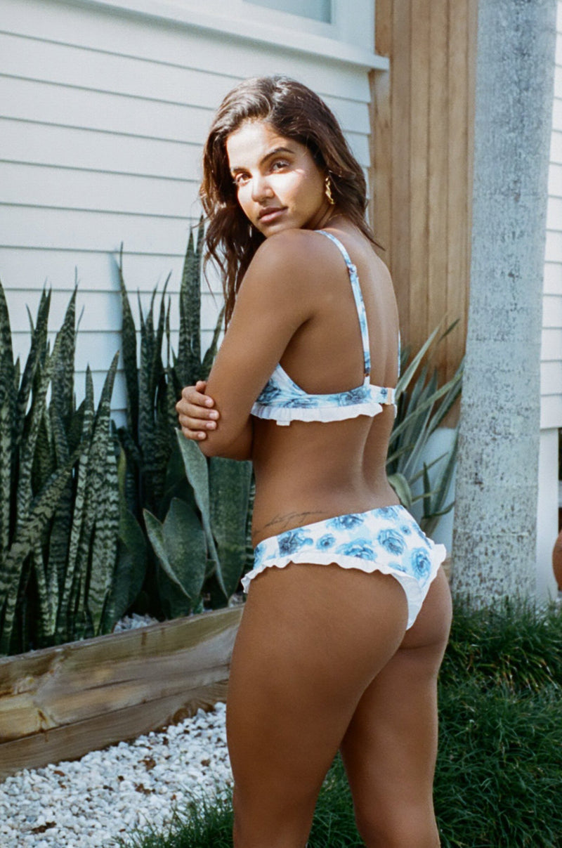Ete - Luana Cheeky Bottoms in Blue Floral-Ete Swimwear-Nomads Cove