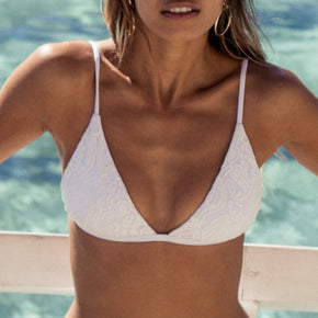Ete - Tula Top in White Lace-Ete Swimwear-Nomads Cove