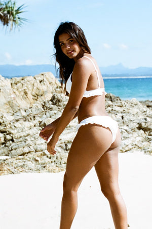 Luana Cheeky Bottoms - White Embroidery-Ete Swimwear-Nomads Cove
