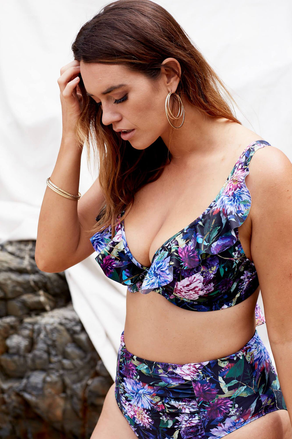 Marvell-Lane Marvell-Lane - Ava Bikini Top in Dahlia - Nomads Cove