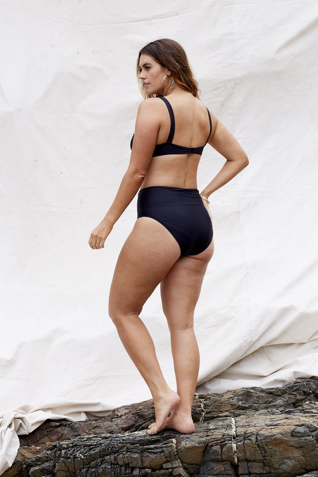 Marvell-Lane - Keira Bikini Bottom in Black-Marvell-Lane-Nomads Cove
