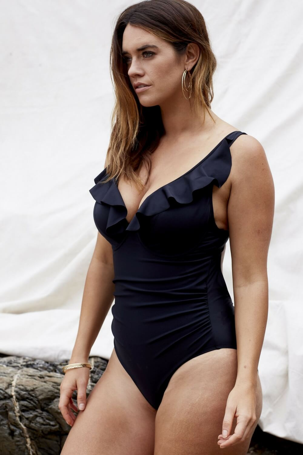 Marvell-Lane Marvell-Lane - Sofia One Piece in Black - Nomads Cove