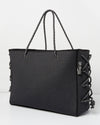 Miz Casa & Co Harper Neoprene Tote Bag Dark Grey Denim-Miz Casa & Co-Nomads Cove