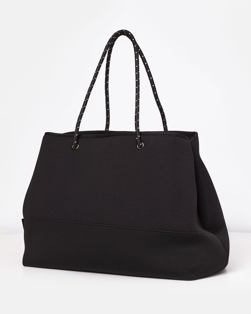 Miz Casa & Co Ivy Neoprene Tote Bag Black-Miz Casa & Co-Nomads Cove