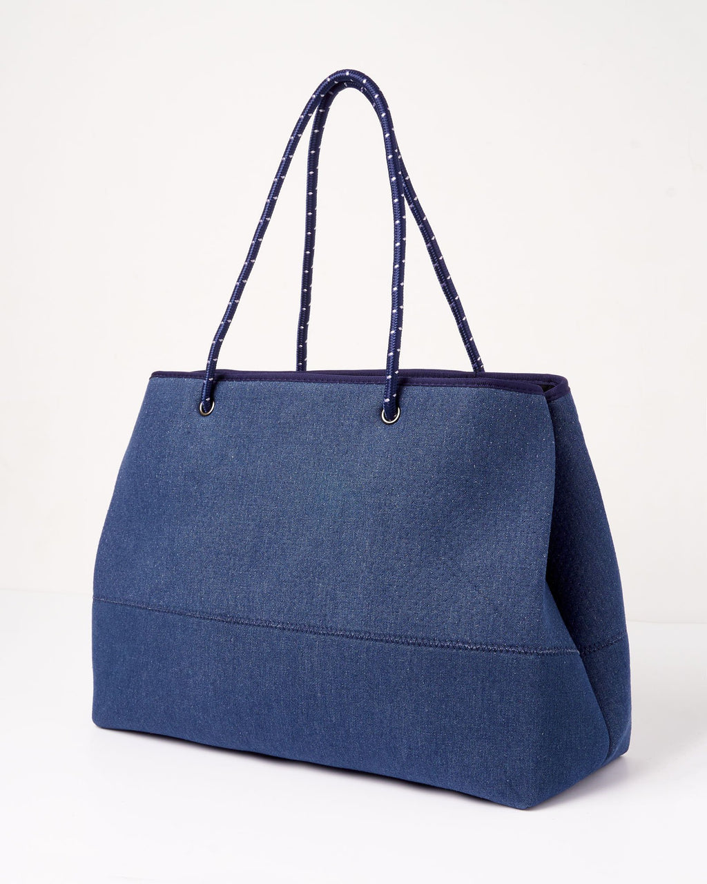 Miz Casa & Co Ivy Neoprene Tote Bag Blue Denim-Miz Casa & Co-Nomads Cove