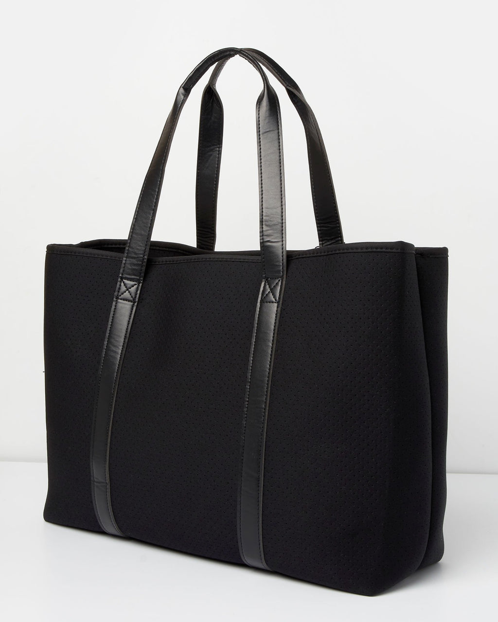 Miz Casa & Co Tabitha Neoprene Tote Bag Black-Miz Casa & Co-Nomads Cove