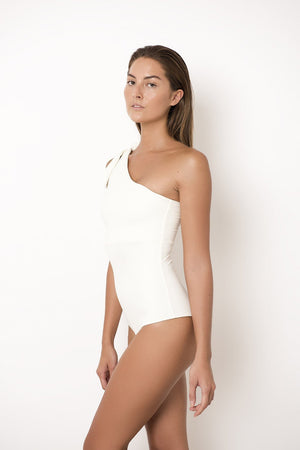 Palm Swimwear Palm - Bella Bodysuit in Ivory - Nomads Cove