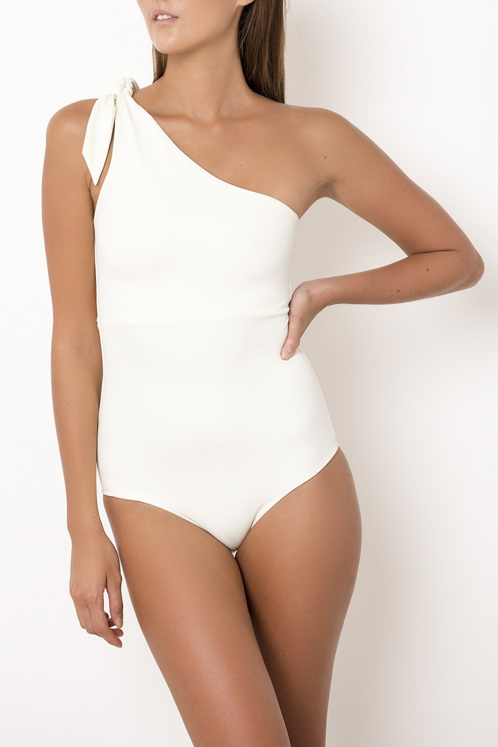 Palm - Bella Bodysuit in Ivory-Palm Swimwear-Nomads Cove