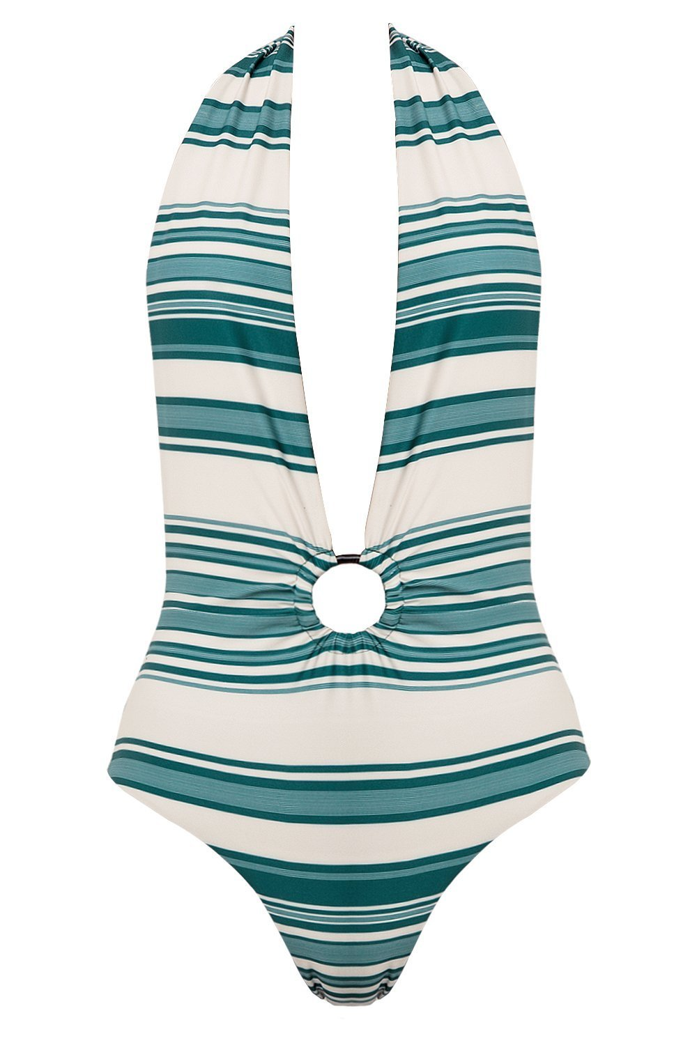 Palm - Harvey Bodysuit in Bauhaus Teal-Palm Swimwear-Nomads Cove