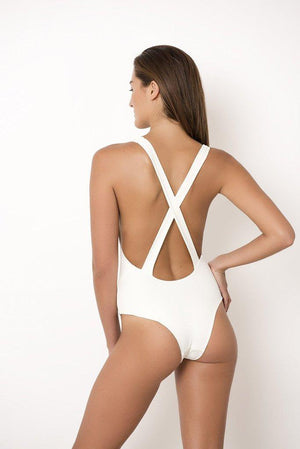 Palm - Ivy Bodysuit in Ivory-Palm Swimwear-Nomads Cove