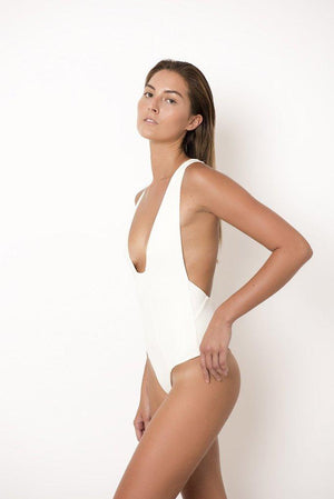 Palm Swimwear Palm - Ivy Bodysuit in Ivory - Nomads Cove