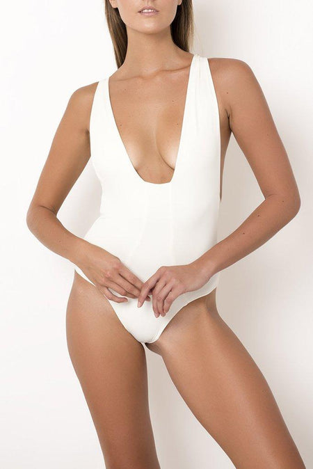 Palm - Lucia Bodysuit in Ivory & Chocolate