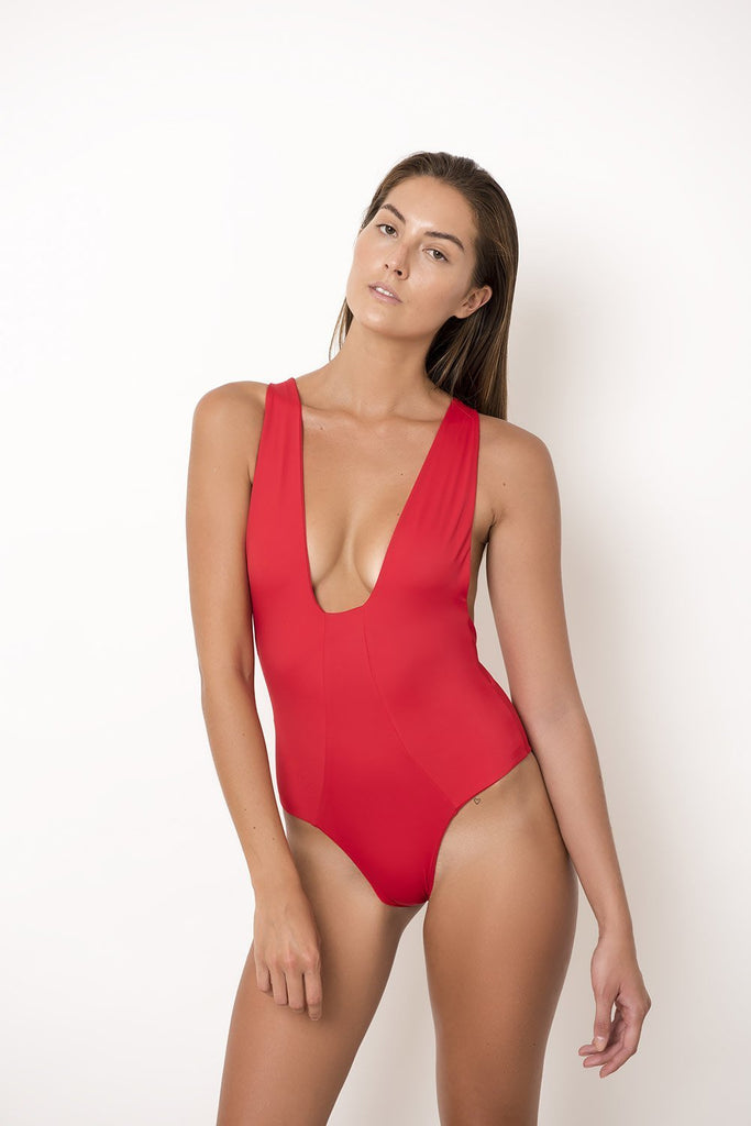 Palm - Ivy Bodysuit in Rouge-Palm Swimwear-Nomads Cove