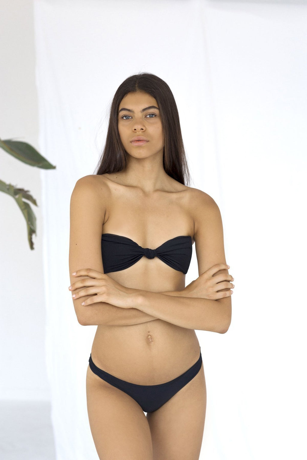 Palm - Mia Top in Black-Palm Swimwear-Nomads Cove