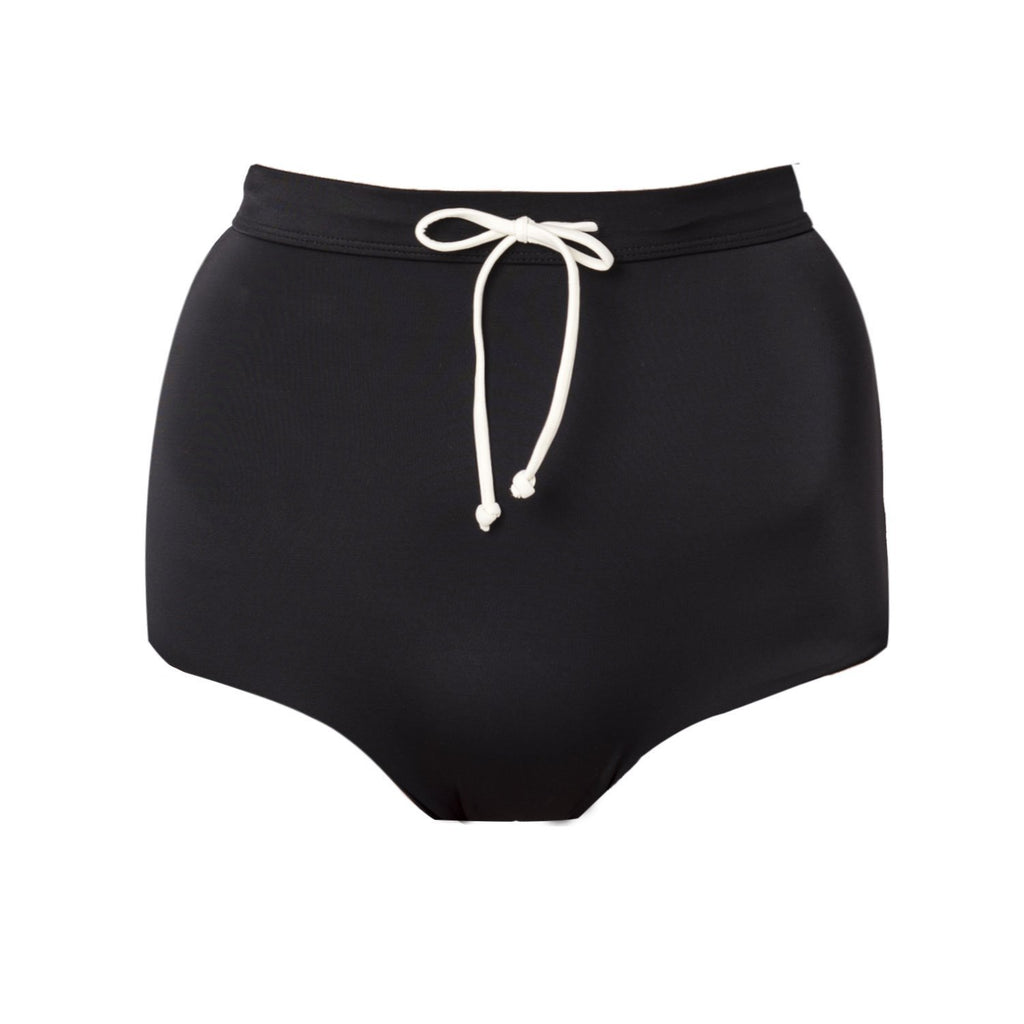 Palm - TALUA Bottom Black/Ivory-Palm Swimwear-Nomads Cove