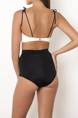 Palm Swimwear Palm - TALUA Top Black/Ivory - Nomads Cove