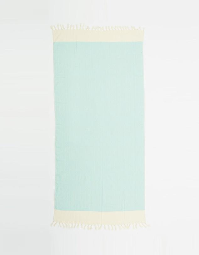 Santorini Turkish Towel in Mint-Miz Casa & Co-Nomads Cove