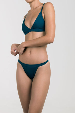 SIENNA Top Midnight Teal-Palm Swimwear-Nomads Cove