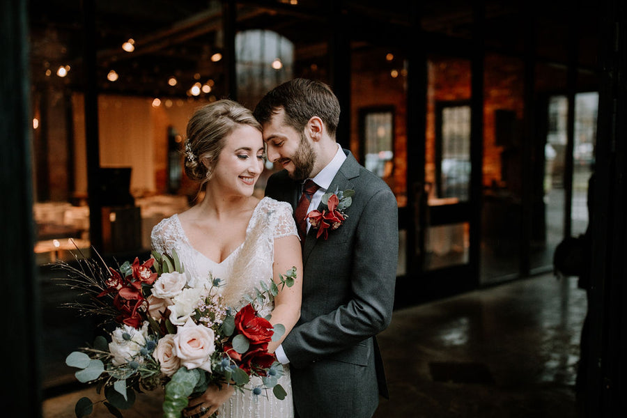 Meghan & James | A Winter's Day Casts Dramatic Light, and Romance, on the Shadowy Corners of Mt. Washington Mill's Dye House in Baltimore, MD