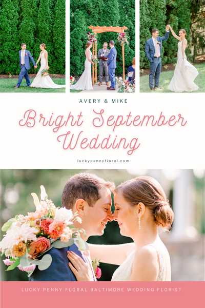 Who said September weddings have to be full-blown into a fall theme? Avery and Mike did just the opposite of the traditional September weddings as their special day was filled with bright and fresh florals, outdoor games, and a cocktail mixing at the altar!
