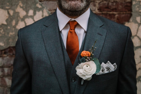 Baltimore wedding florist, lucky penny floral, boutonniere