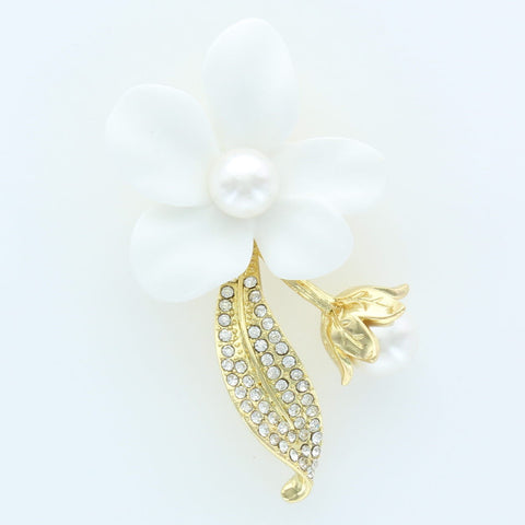 White Flower Pin