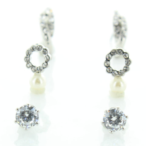3 Pairs CZ Everyday Earrings