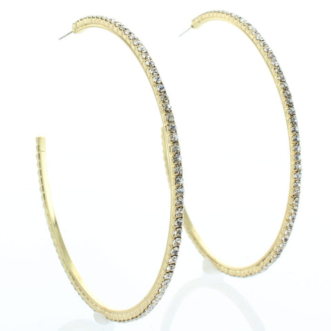 Diamond Etched Hoop Earring