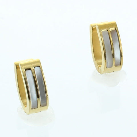Marble Oval Stainless Steel Earring