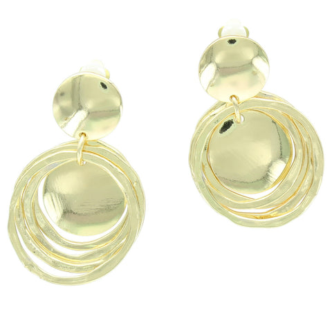 Whimsical  Round Clip Earring
